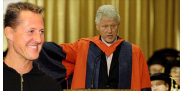 Scheichs und Schumacher geben Clinton Millionen