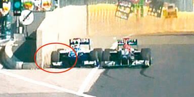 Schumi drängte Barrichello ab
