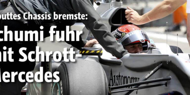 Schumi fuhr mit Schrott-Mercedes
