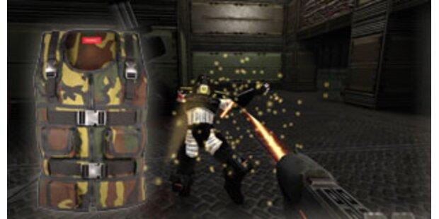 Jacke lässt Gamer Schussverletzunge spühren