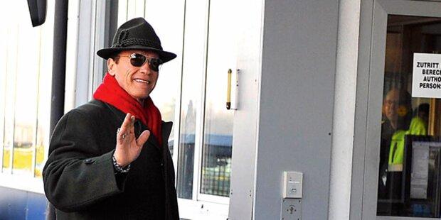 Barroso bei Schwarzenegger, Faymann und Spindelegger in Wien