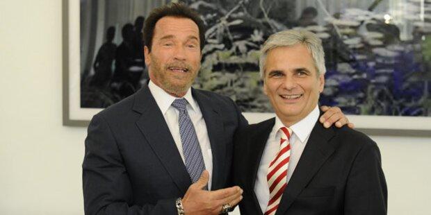 Faymann empfing Arnold Schwarzenegger