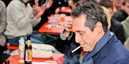 Rauchverbot: Strache will hart bleiben