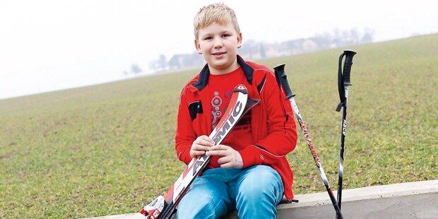 Jan verlor ein Bein: Wieder auf Skiern