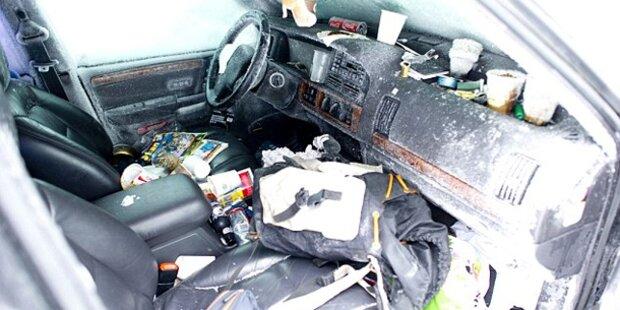 So überlebte Schwede in eingeschneitem Auto