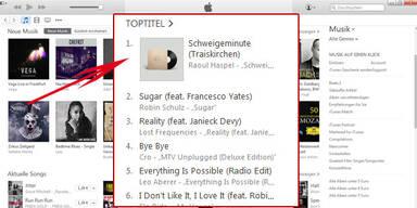 Schweigeminute (Traiskirchen) bei iTunes auf Platz 1