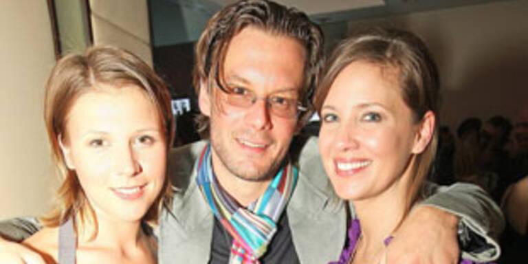 Dana Schweiger mit Philipp Weck und Franziska Weisz
