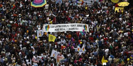 Schwulen- und Lesben-Demo in Sao Paulo