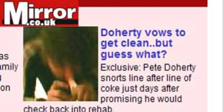 Pete Doherty schon wieder beim Koksen erwischt