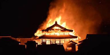 Historische Burg in Japan brannte nieder