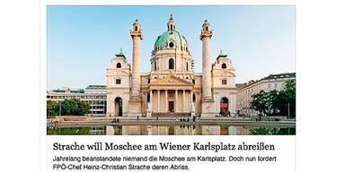 """Shitstorm wegen der """"Karlsplatz-Moschee"""""""