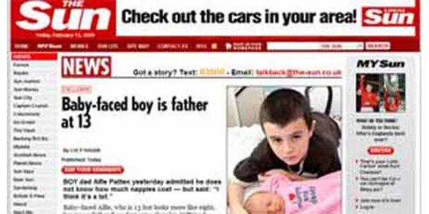 13-jähriger Brite ist doch nicht Vater