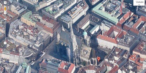 Ganz Wien hochauflösend auf Google Maps