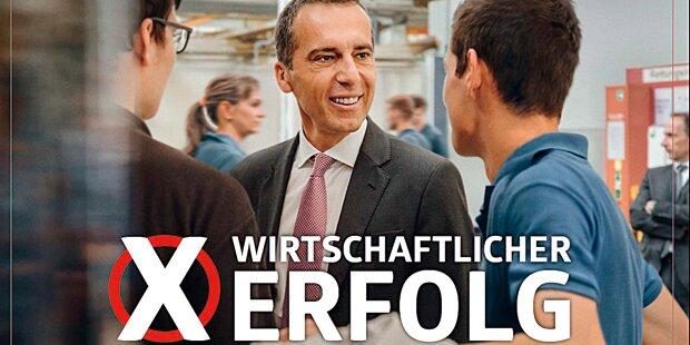 Neue Plakate: SPÖ setzt auf Person Kern