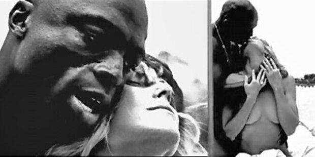 Heidi & Seal schmusen nackt in Video