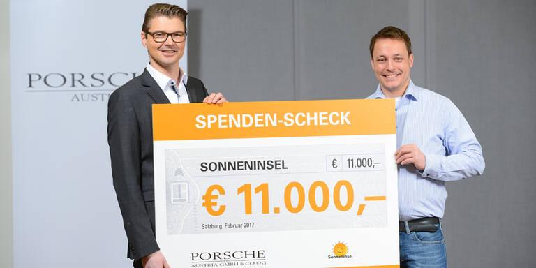 Porsche Austria spendet 11.000 Euro