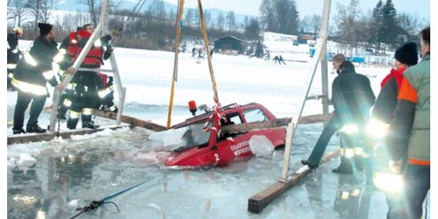 See-Aufseher versank mit Auto