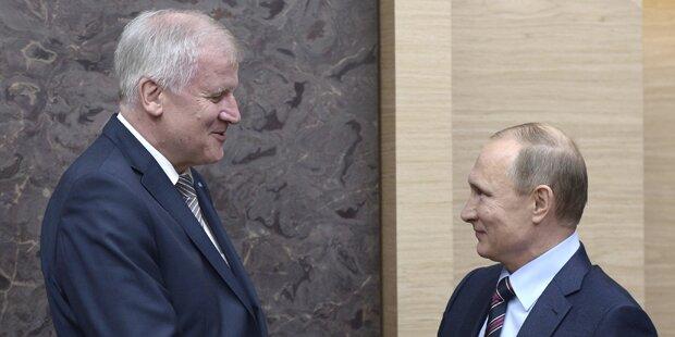 Seehofer erntet Kritik für Putin-Besuch