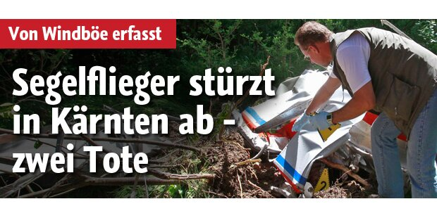 Segelfieger abgestürzt: 2 Tote in Kärnten