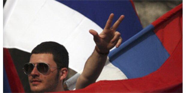 Krawalle bei Protest bosnischer Serben