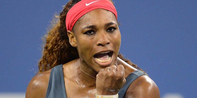 Serena Williams bei US Open souverän