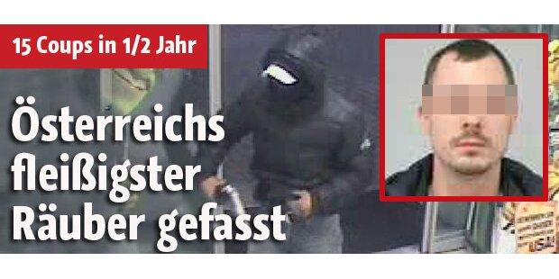 Österreichs fleißigster Räuber gefasst