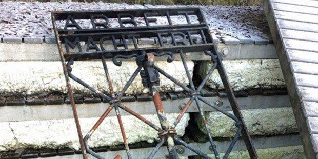 Gestohlenes KZ-Tor wieder aufgetaucht