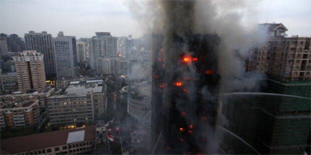 Schweißarbeiten verursachen Hochhausbrand