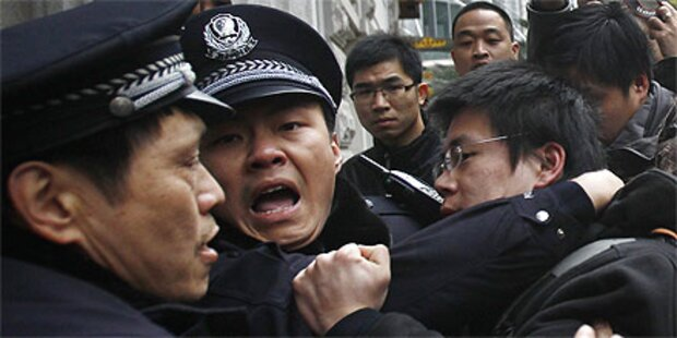 Polizei löst Proteste in China auf