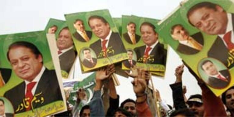 Sharif kandidiert bei Parlamentswahl in Pakistan