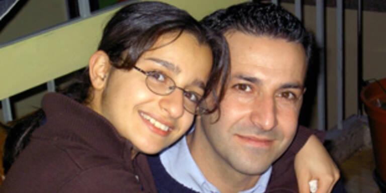 Familie Sharifi: Tochter mit Vater.