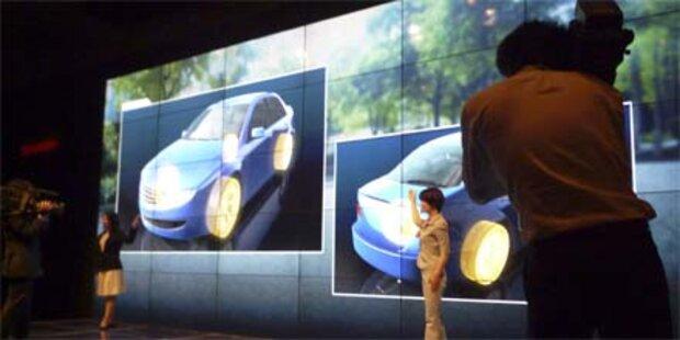 Nahezu vollkommen rahmenlose LCD-TVs