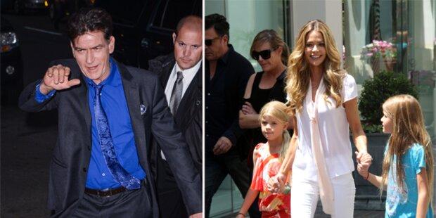 Charlie Sheen wirft seine Töchter raus