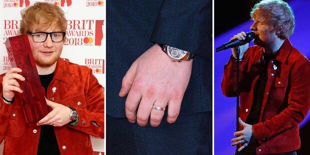Brit Awards: Ed Sheeran mit Ehering?