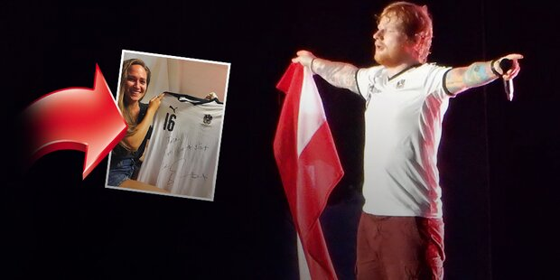 Große Freude: Sheeran trat in ihrem Trikot auf