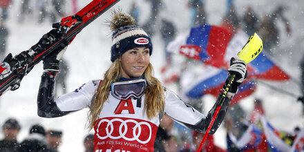 Shiffrin stellt Moser-Pröll-Rekord ein