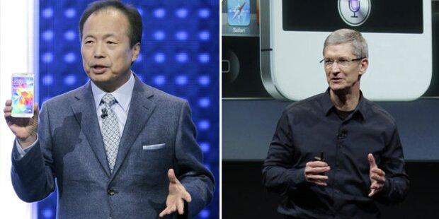 Samsungs Handy-Chef hängt Apple-Boss ab