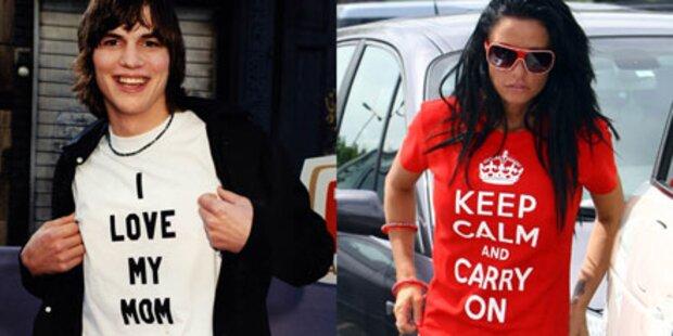 Stars sprechen durch ihre T-Shirts