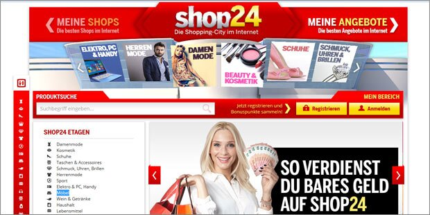Shop24.at – Das Online-Shopping-Center im Internet