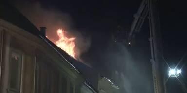 Großbrand in der City von Baden
