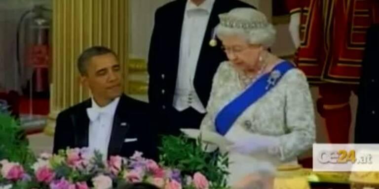 Obama speist mit Queen im Buckingham Palast