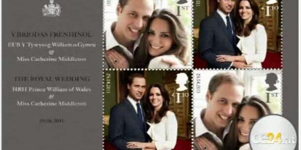 K&W: Das königliche Paar nun auch auf Briefmarken