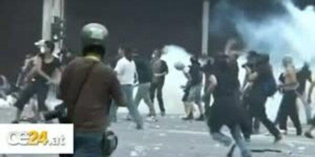 Straßenschlachten in Athen