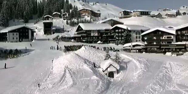 Schneemassen und Sonnenschein am Arl
