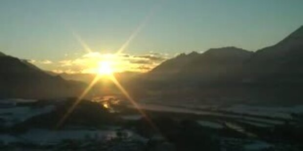 Sonnenuntergang in Brixlegg Tirol