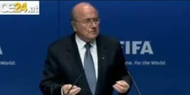 FIFA Blatter brüskiert bei Rede die Weltpresse