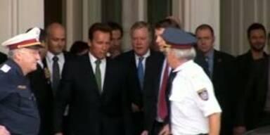 Riesen-Rummel um Arnie in Wien