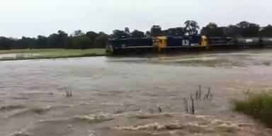 Schwere Hochwasser in South Wales, AUS