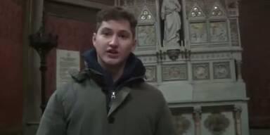 Rechte Aktivisten besetzen Votivkirche