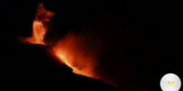 Spektakulär: Vulkan Ätna speit wieder Feuer